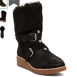Rebecca Minkoff Perry Genuine Fur Lined Wedge Boot